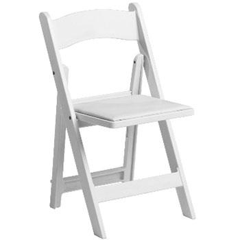 White Resin Padded Garden Chair