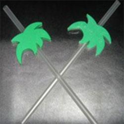 Hard Plastic Palm Tree Straws